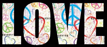 Love Graffiti - Color by Louise Carey art print