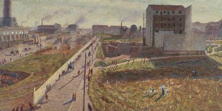 Factories at the Porta Romana -Milan by Umberto Boccioni art print