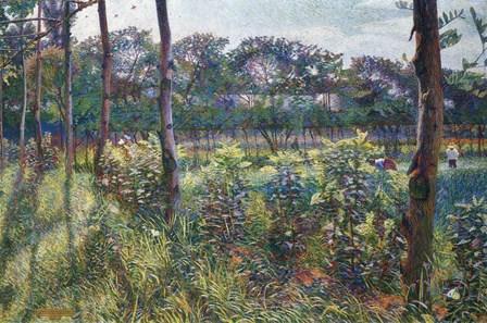 Lombardy Countryside by Umberto Boccioni art print