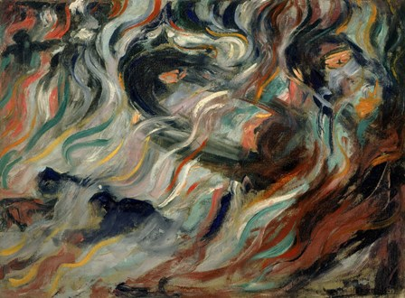 States of Mind - The Goodbyes (Stati d'animo, Gli Addii) by Umberto Boccioni art print