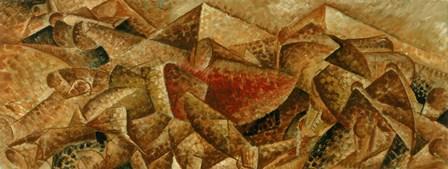 Plastic Dynamism: Horse & Tenement by Umberto Boccioni art print