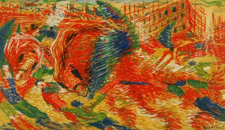 The Rising City (La Citte Che Sale) by Umberto Boccioni art print