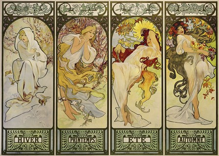 The Seasons by Alphonse Mucha art print