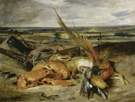 Still Life with Lobster, 1827 by Eugene Delacroix art print