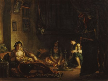 Women of Algiers in their Apartment, 1847-49 by Eugene Delacroix art print