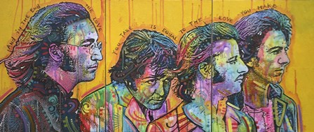 Beatles Pano by Dean Russo art print