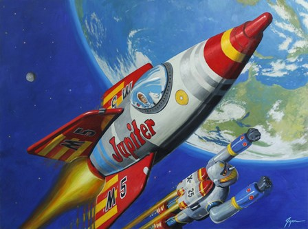 Space Patrol 2 by Eric Joyner art print