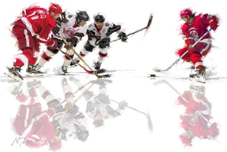 Ice Hockey 2 by The Macneil Studio art print