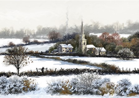 Snowy Fields by The Macneil Studio art print