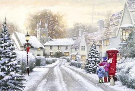 Snowy Village by The Macneil Studio art print