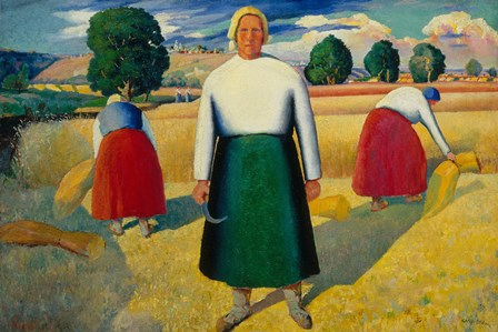 The Reapers, c. 1923 by Kazimir Malevich art print
