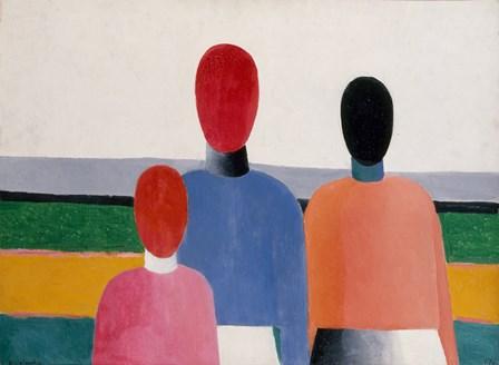 Three Female Figures, c. 1928 by Kazimir Malevich art print
