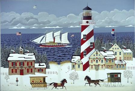 Christmas in the Carolinas by Anthony Kleem art print