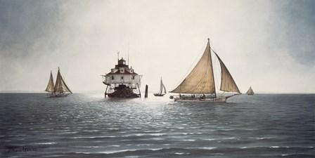 Gathering At Thomas Point by David Knowlton art print