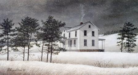 Snow Squall by David Knowlton art print