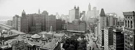 City Hall Panorama, New York by Print Collection art print