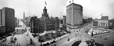 City Hall and Campus Martius, Detroit by Print Collection art print