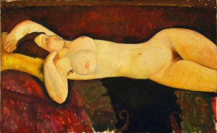 Reclining Nude Arch by Amedeo Modigliani art print