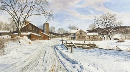 Mid-January Farmscape by Michael Davidoff art print