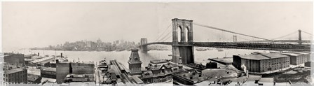 Brooklyn Bridge1901 by Mindy Sommers art print