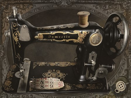 Vintage Sewing Machine by Mindy Sommers art print