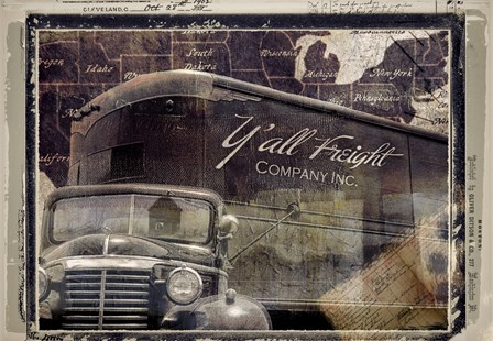 Y'all Freight Co by Mindy Sommers art print