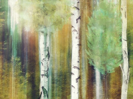 Morning Trees by Mindy Sommers art print