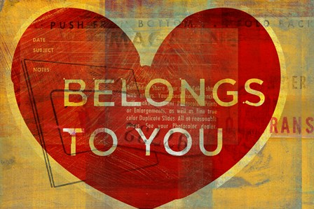 Heart Belongs by John W. Golden art print