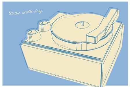 Lunastrella Record Player by John W. Golden art print
