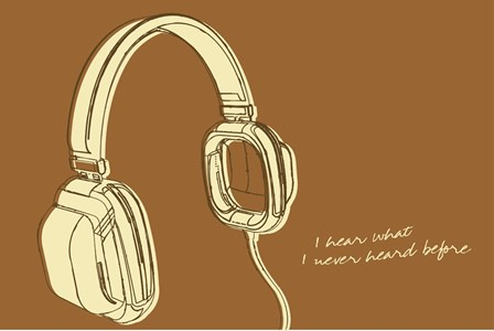 Lunastrella Headphones by John W. Golden art print