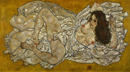 Reclining Woman, 1917 by Egon Schiele art print