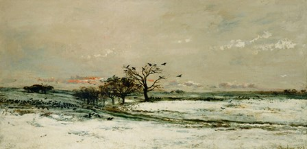 Winter, 1873 by Charles Francois Daubigny art print
