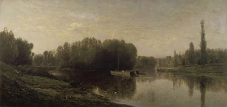 The Banks Of The Oise, 1859 by Charles Francois Daubigny art print