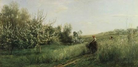Spring by Charles Francois Daubigny art print