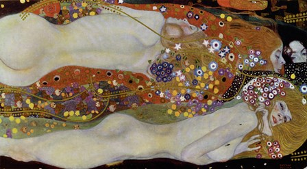 Wasserschlangen - Watersnakes IiI(The Friends), 1904-1907 by Gustav Klimt art print
