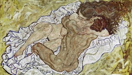 Embrace (Lovers II), 1917 by Egon Schiele art print