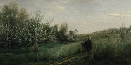 Spring, 1857 by Charles Francois Daubigny art print