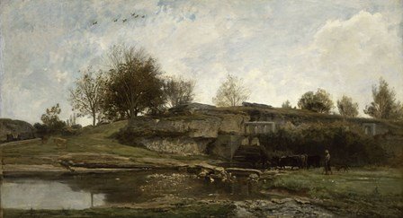Lock in the Optevoz Valley, Isere, 1855 by Charles Francois Daubigny art print