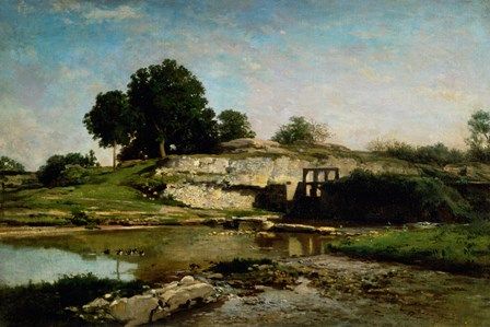 Dam At Optevoz by Charles Francois Daubigny art print