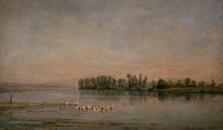 Morning by Charles Francois Daubigny art print