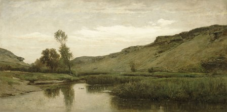 The Valley Of Optevoz, 1857 by Charles Francois Daubigny art print