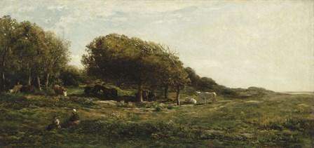 Graves Of Villerville by Charles Francois Daubigny art print