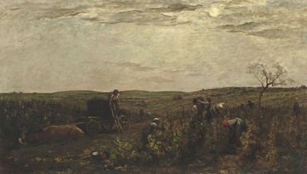 Wine Harvest In Burgundy, 1863 by Charles Francois Daubigny art print