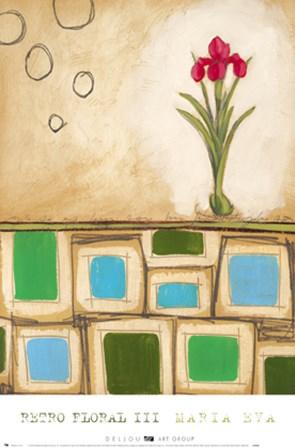 Retro Floral III by Maria Eva art print