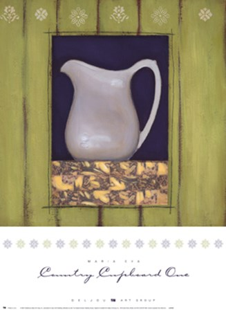 Country Cupboard One by Maria Eva art print