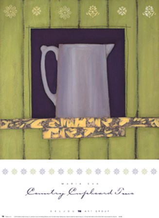 Country Cupboard Two by Maria Eva art print