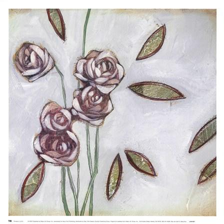 Fleur de Joie III by Maria Eva art print