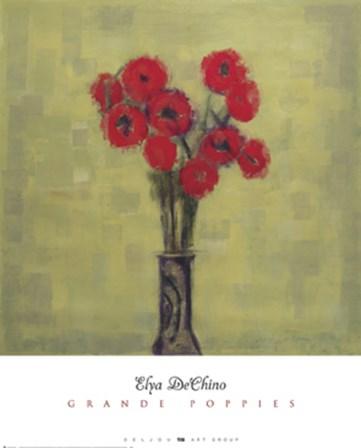 Grande Poppies by Elya De Chino art print