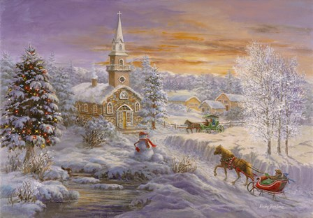 Holiday Worship by Nicky Boehme art print