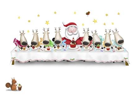 Santa's Cupcake Supper by DBK-Art Licensing art print